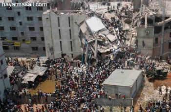 Bangladeşte çöken bina