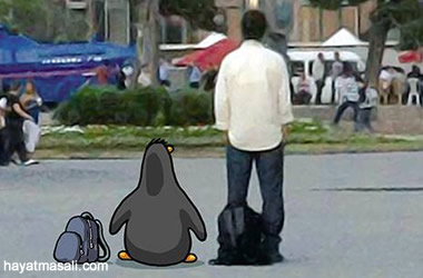 penguen duran adam kapak